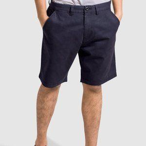OLGYN Men's Navy Blue Slim Fit Chino Shorts